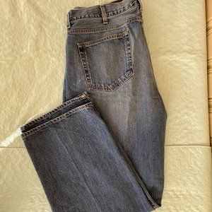 Cremieux Mens Relaxed Straight Fit Dark Blue 40/30